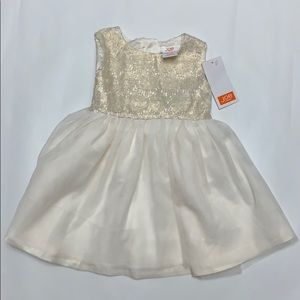 NWT Joe Fresh baby gold and ivory party dress